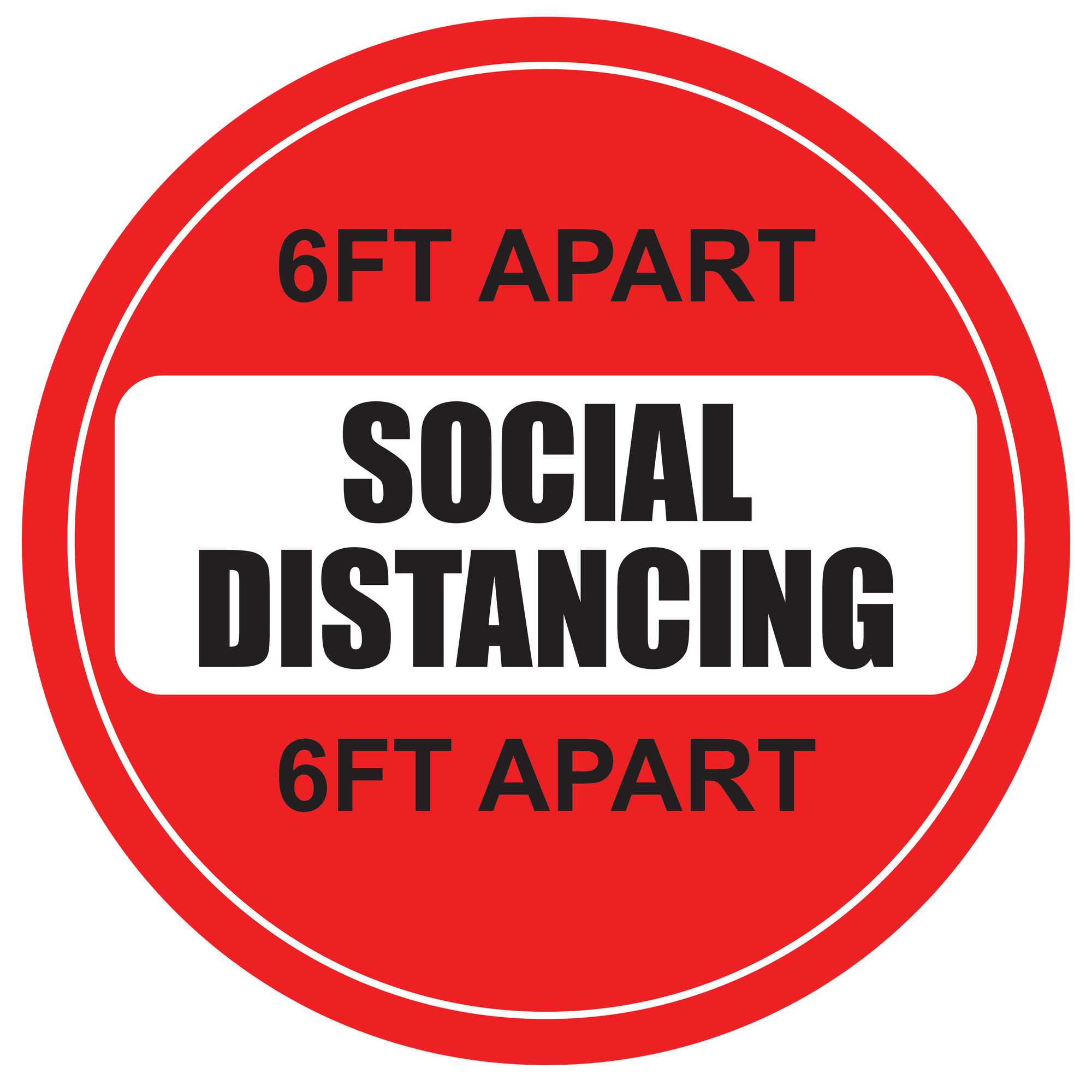 Social Distance Red